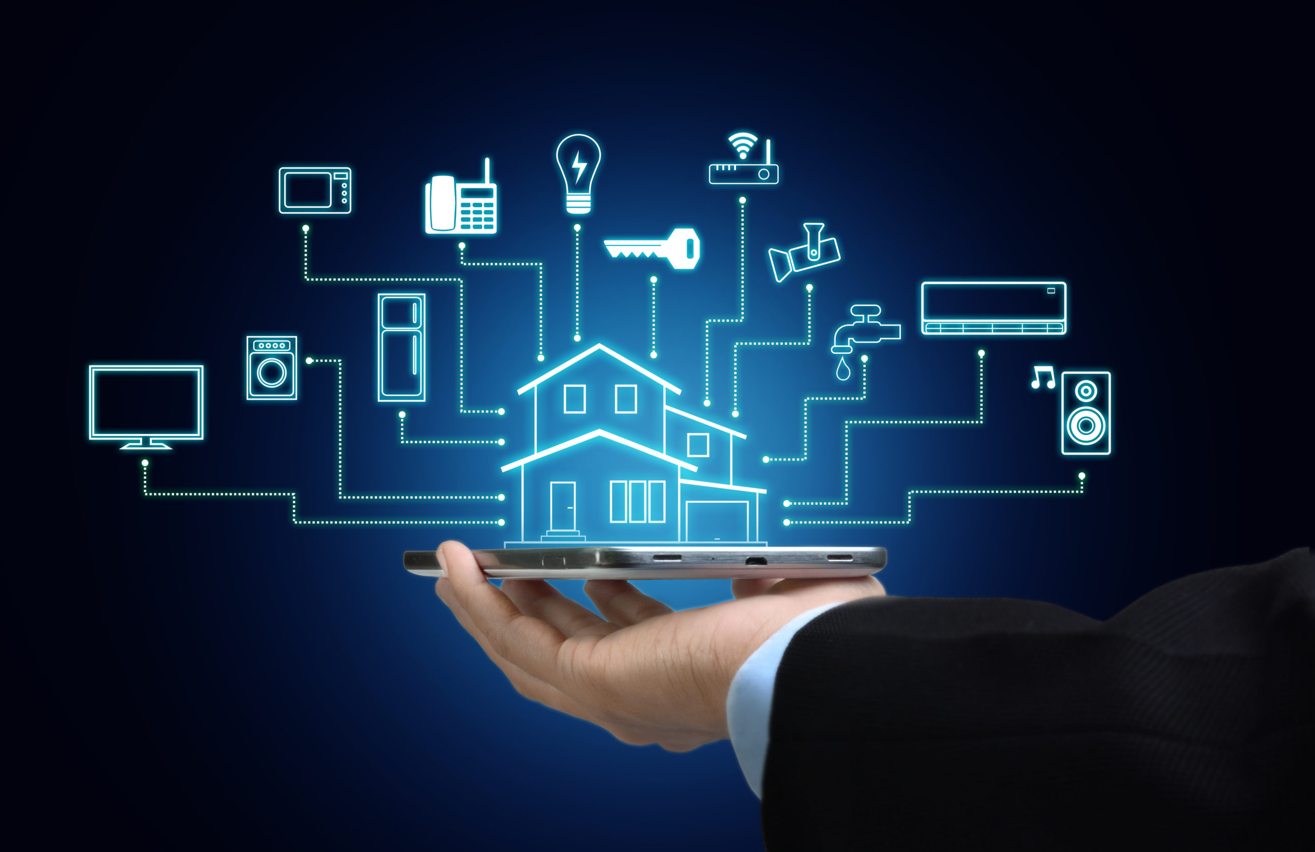 Internet of things and smart home concept